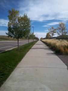 Running into neighborhood